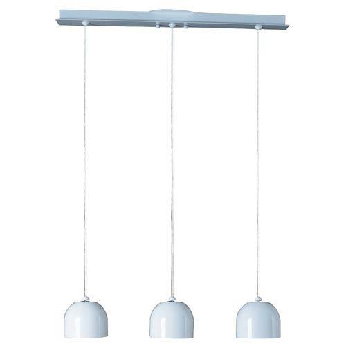 Brahma Three-Light White Mini Pendant