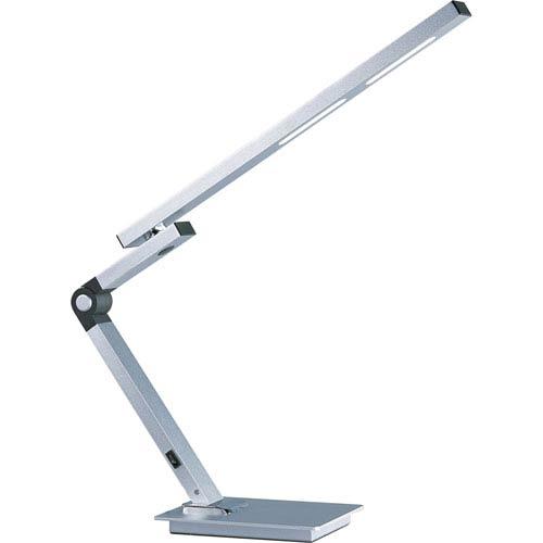 Eco-Task Satin Aluminum One-Light LED 24-Inch Table Lamp