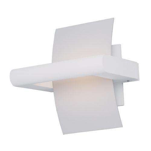 ET2 Alumilux White LED One Light Wall Sconce