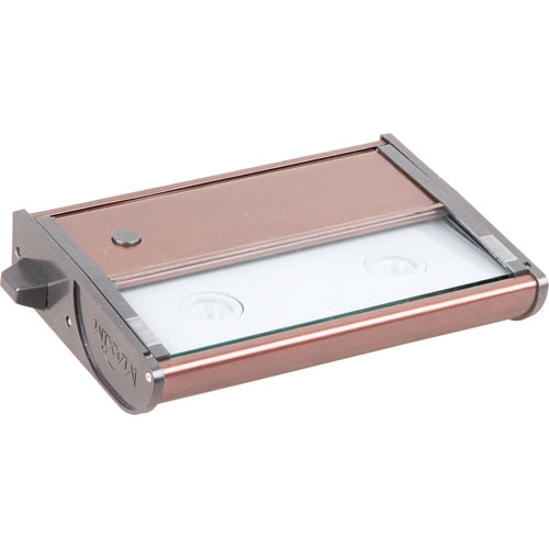 ET2 CounterMax MX-L120 Metallic Bronze 7-Inch Two-Light LED Under Cabinet Light