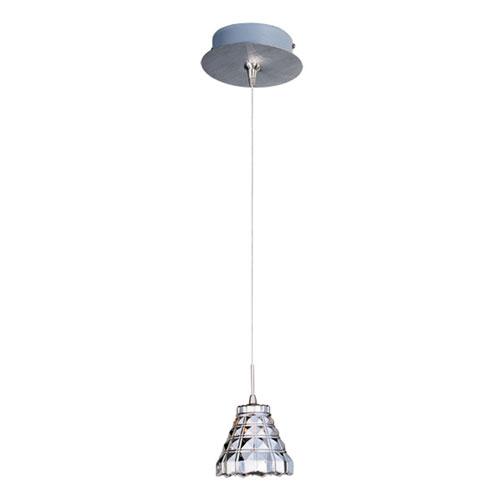 ET2 Minx Satin Nickel One-Light RapidJack Mini Pendant and Canopy