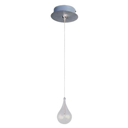 Larmes Satin Nickel One-Light RapidJack Mini Pendant and Canopy