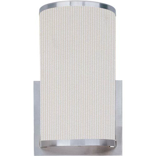 ET2 Elements Satin Nickel One-Light Wall Sconce with White Pleat Linen Shade