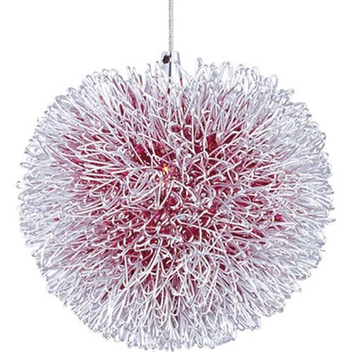 Clipp Brushed Aluminum One-Light 5-Inch RapidJack Pendant Only with Red Shade