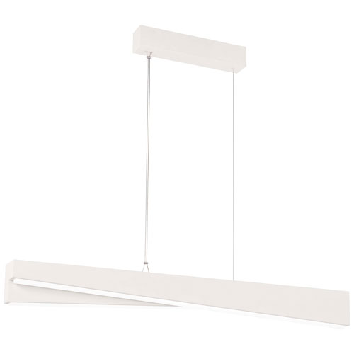 So Inclined Sand White 59-Inch LED Island Pendant