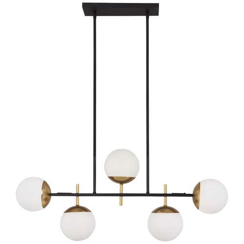 Alluria Weathered Black with Autumn Gold Five-Light Island Pendant