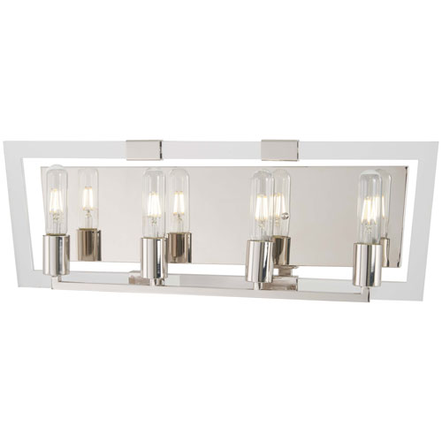 Crystal Chrome Polished Nickel Four-Light Bath Vanity
