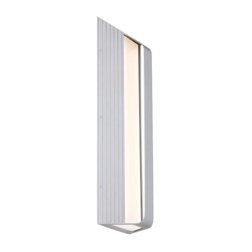 Launch Sand Silver Eight-Inch LED Outdoor Wall Sconce