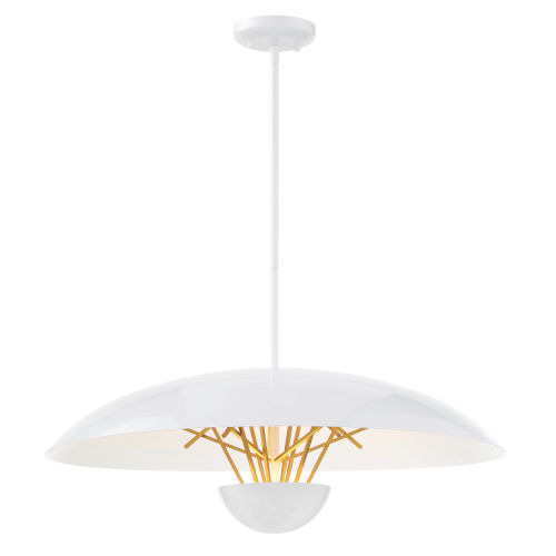 Sun Core Sand White With Honey Gold 26-Inch LED Pendant