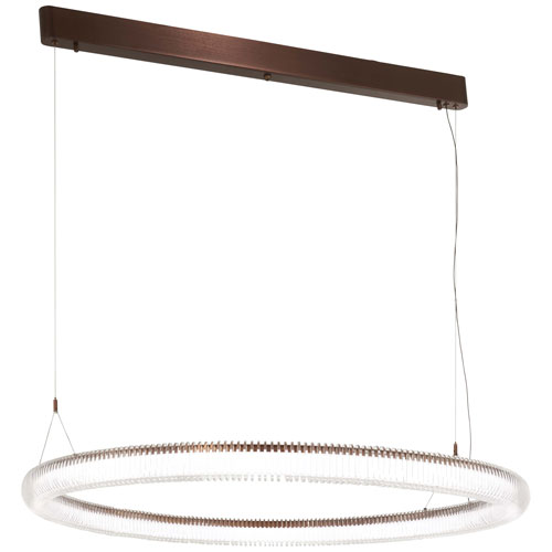 Roulette Satin Bronze 42-Inch LED Pendant