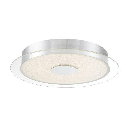 Diamond Dust Chrome 16-Inch LED Flush Mount