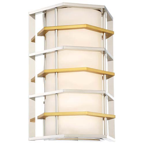 Levels Polished Nickel with Honey Gold LED Wall Sconce