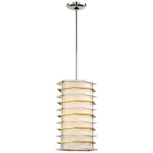 Levels Polished Nickel with Honey Gold LED Mini Pendant