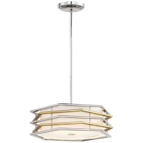 Levels Polished Nickel with Honey Gold LED Semi-Flush (Convertible)