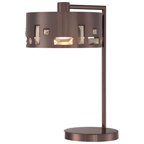 Bling Bang Chocolate Chrome Table Lamp