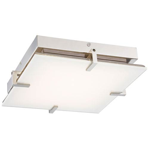 Hooked Polished Nickel LED Flush Mount