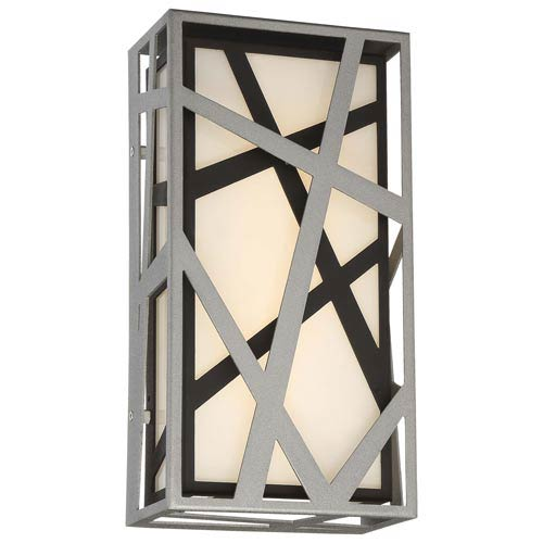 George Kovacs Duvera Sand Silver and Black LED Wall Sconce