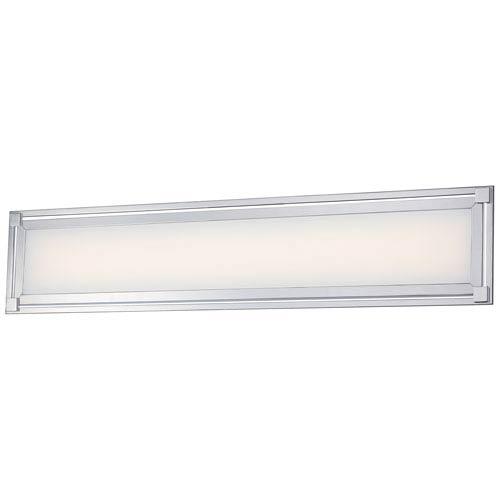 George Kovacs Framed Chrome One-Light 30-Inch Wide LED Bath Light