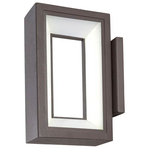 George Kovacs Skylight Textured Dorian Bronze 10-Inch One-Light Outdoor LED Wall Sconce