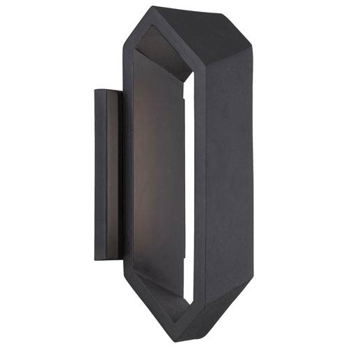 Pitch Black 11.5-Inch One-Light Outdoor LED Wall Sconce
