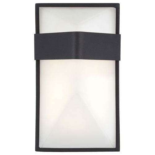 George Kovacs Wedge Black 9-Inch One-Light Outdoor LED Wall Sconce