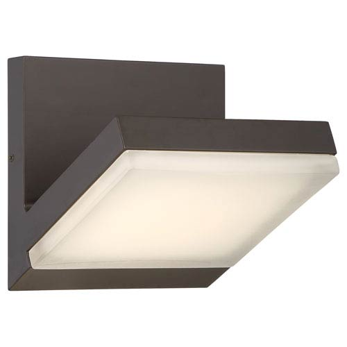 Angle Oil Rubbed Bronze LED Outdoor Wall Sconce