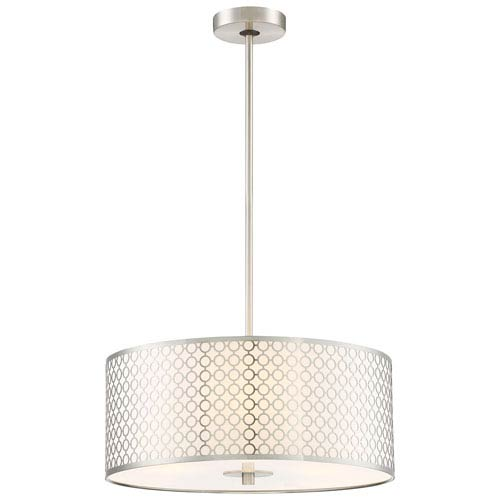 Dots Brushed Nickel Three-Light Pendant