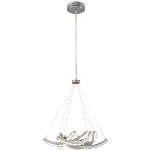Swing Time Brushed Silver 25-Inch LED Pendant