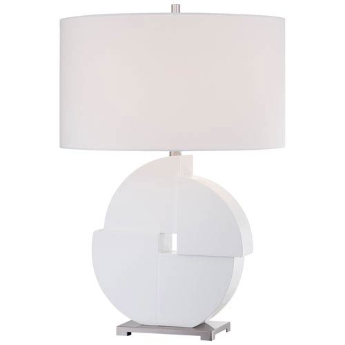 George Kovacs White One-Light Portable Table Lamp
