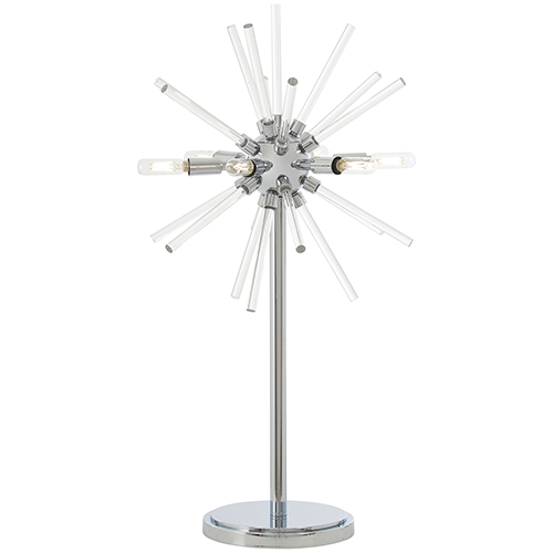 Spiked Chrome 18-Inch LED Table Lamp