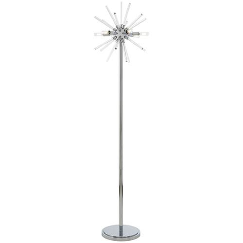 Spiked Chrome 16-Inch LED Table Lamp