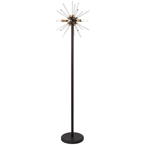 Spiked Painted Bronze 16-Inch LED Table Lamp