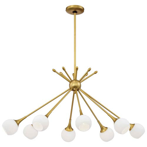 George Kovacs Pontil Honey Gold Eight-Light 22-Inch Chandelier