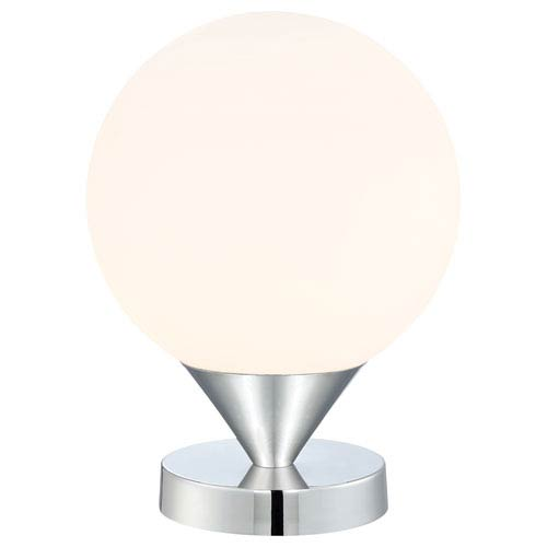 Simple Chrome One-Light Table Lamp