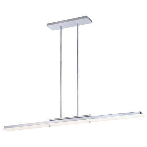 Twist and Shout Chrome One-Light LED Linear Pendant