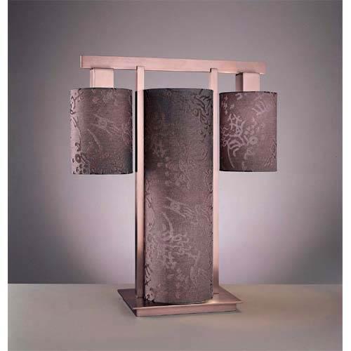 Kimono Table Lamp - Satin Nickel