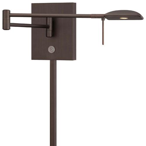 George Kovacs Copper Bronze Patina LED Swing Arm Wall Lamp w/Steel Shade