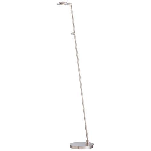 Brushed Nickel 50.5-Inch One Light LED Floor Lamp