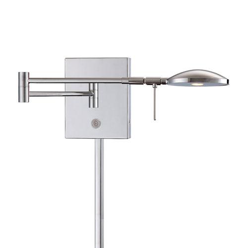 Chrome 6.25-Inch One Light LED Swing Arm Lamp