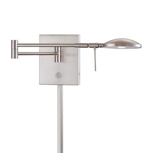Brushed Nickel 6.25-Inch One Light LED Swing Arm Lamp