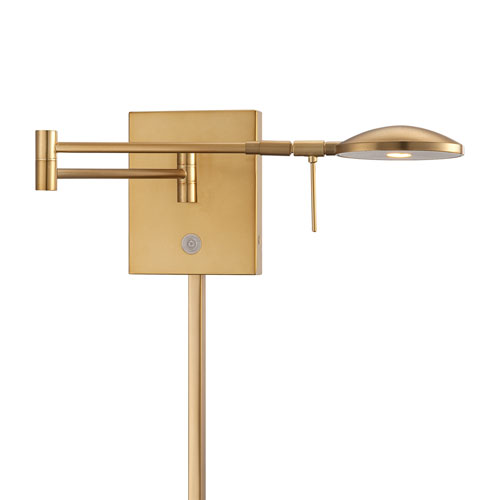 George Kovacs Honey Gold 6.25-Inch One Light LED Swing Arm Lamp