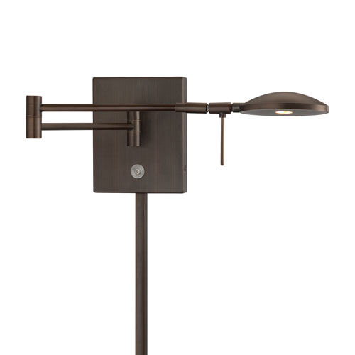 Copper Bronze Patina 6.25-Inch One Light LED Swing Arm Lamp