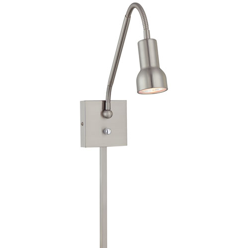 Save Your Marriage Brushed Nickel Patina Low Voltage Wall Lamp