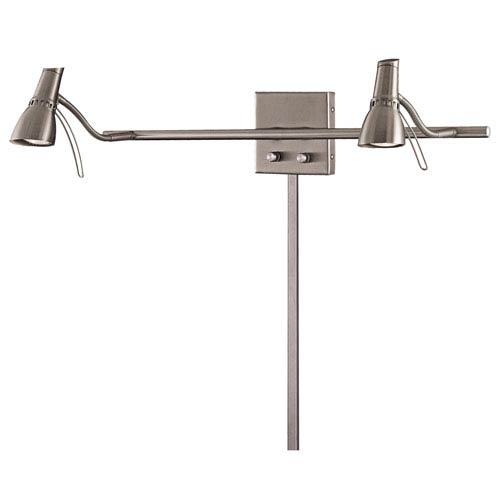 George Kovacs Second Marriage Brushed Nickel Two-Light Wall Lamp