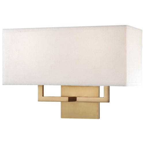 Honey Gold Two-Light Wall Sconce
