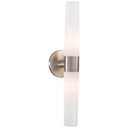 Brushed Nickel Two-Light Bath Fixture