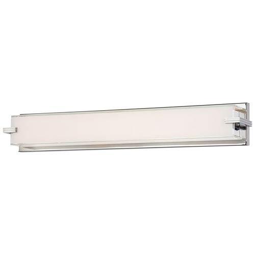 Cubism Chrome 30-Inch 96 Light LED Bath Lamp