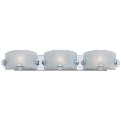 George Kovacs Pillow Chrome Three-Light Bath Fixture