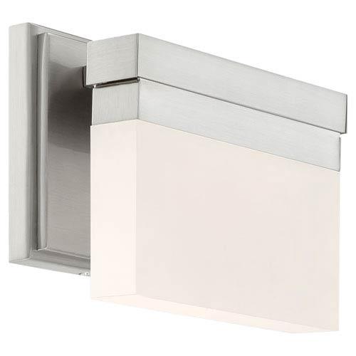Skinny Brushed Nickel LED Eight-Inch Vanity