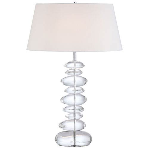 Chrome Table Lamp with Eidolon Krystal Glass